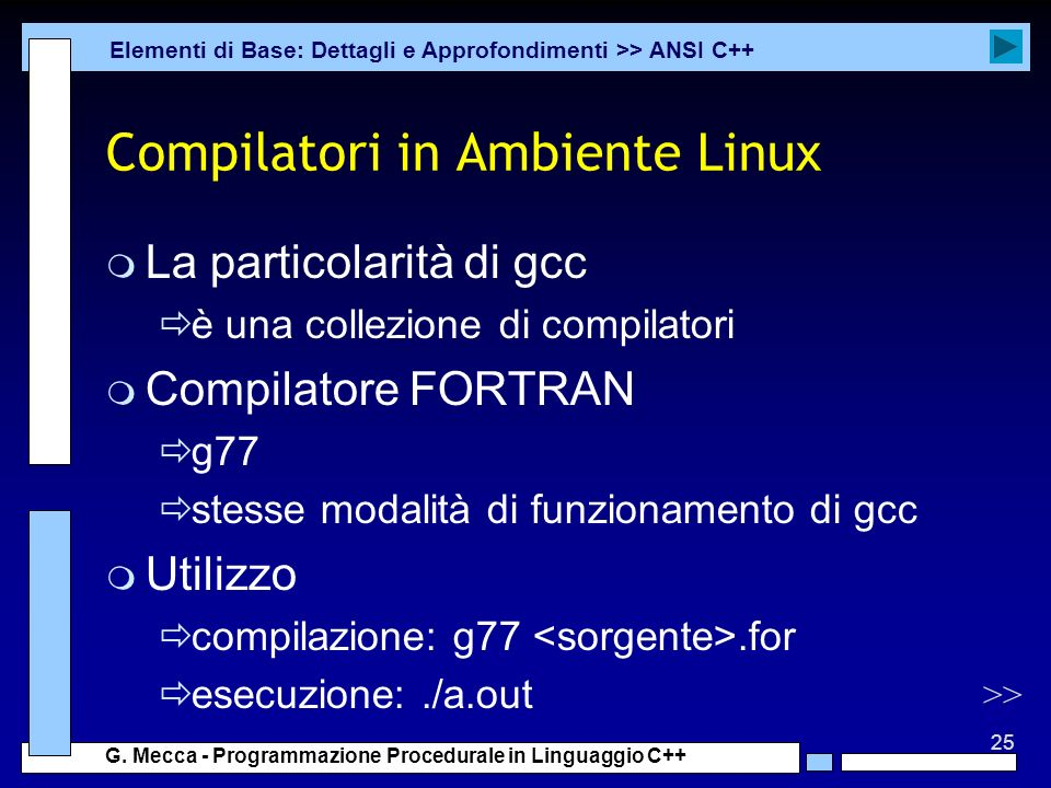 Compilatori in Ambiente Linux