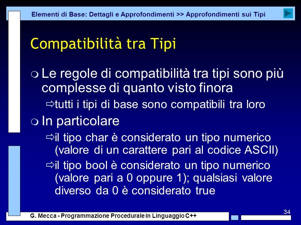 Compatibilità tra Tipi