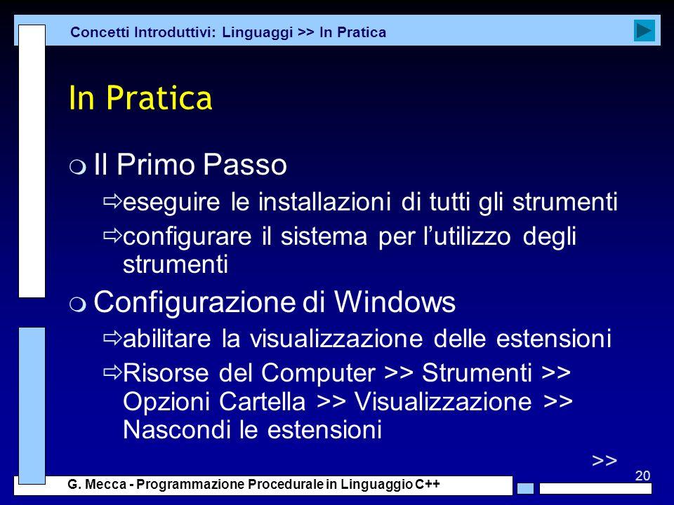 In Pratica Il Primo Passo Configurazione di Windows