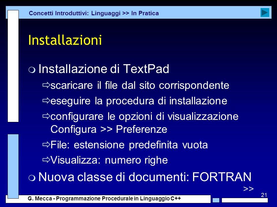 Installazioni Installazione di TextPad