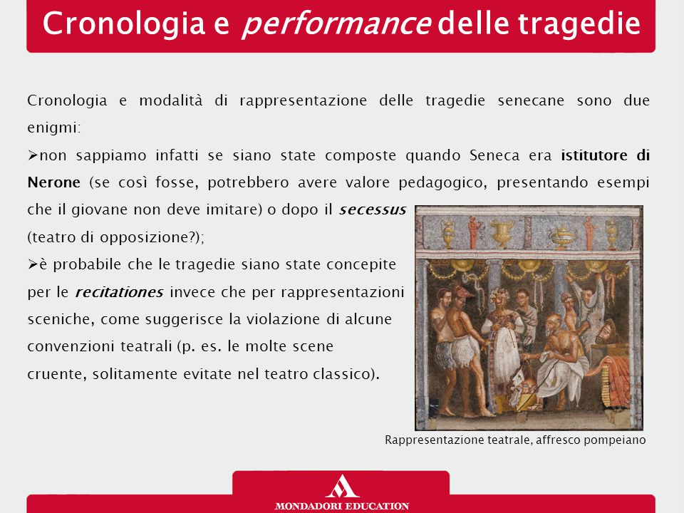 Cronologia e performance delle tragedie