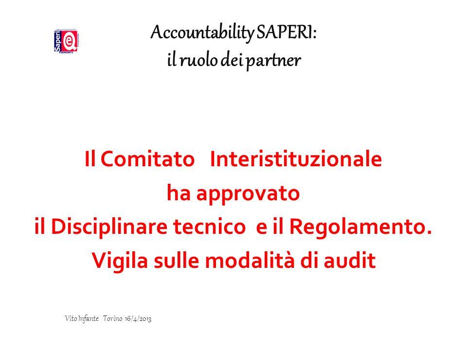 Accountability SAPERI: il ruolo dei partner
