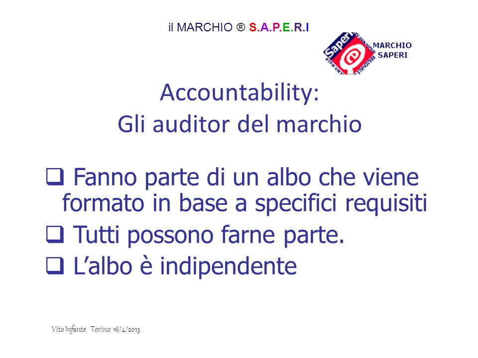 Accountability: Gli auditor del marchio