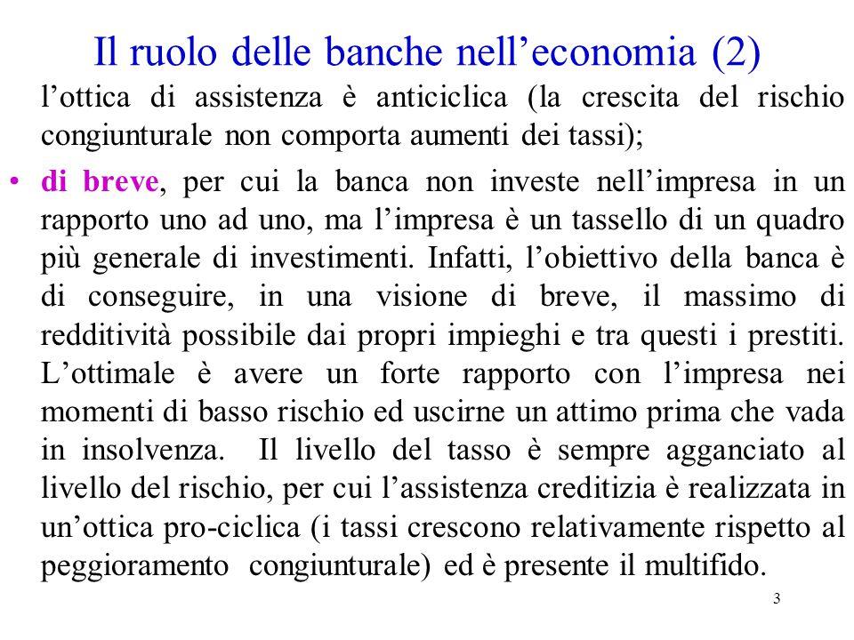 Il ruolo delle banche nell'economia (2)