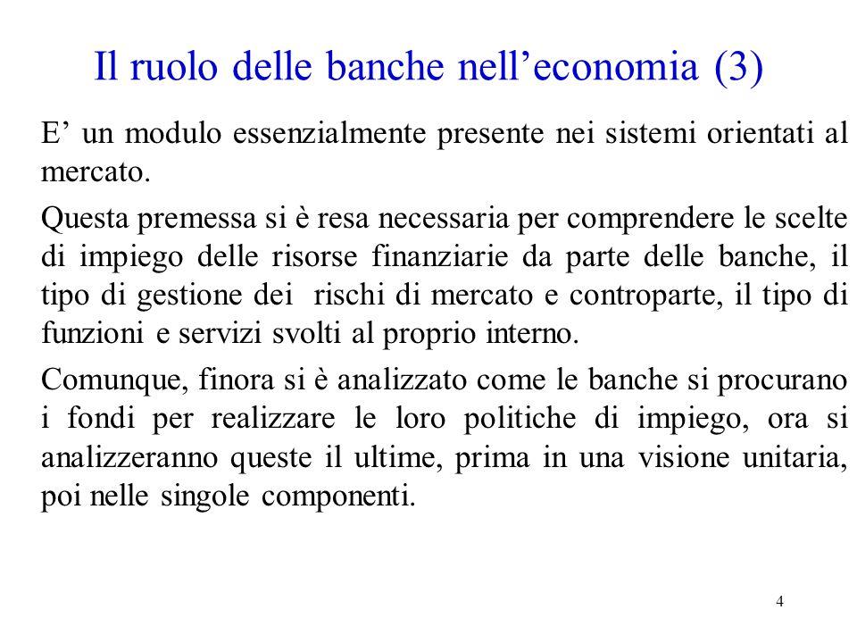 Il ruolo delle banche nell'economia (3)