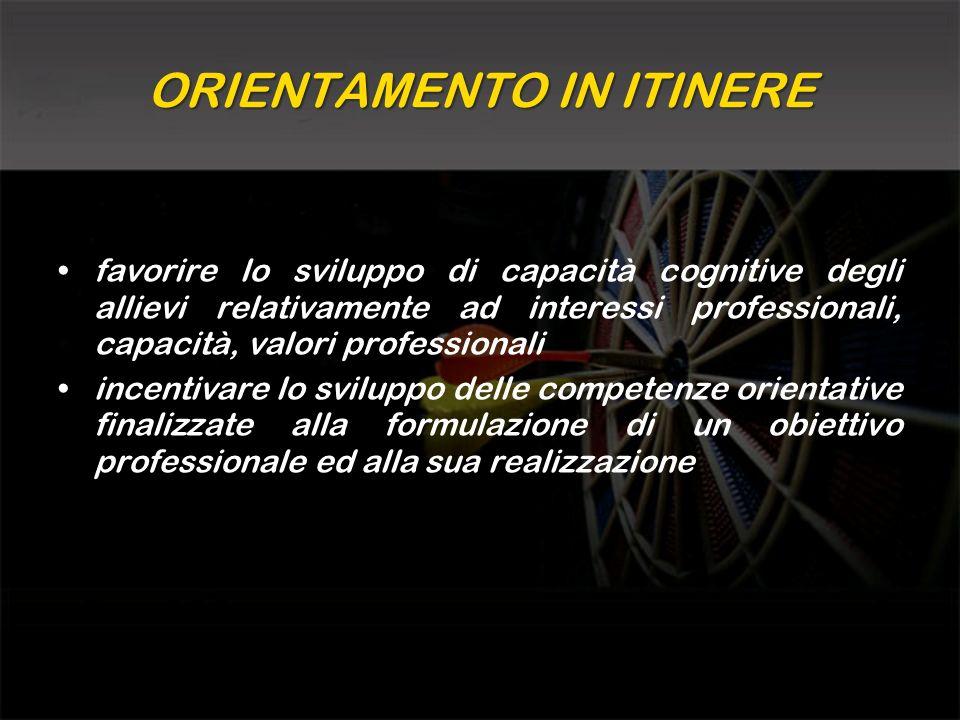 ORIENTAMENTO IN ITINERE