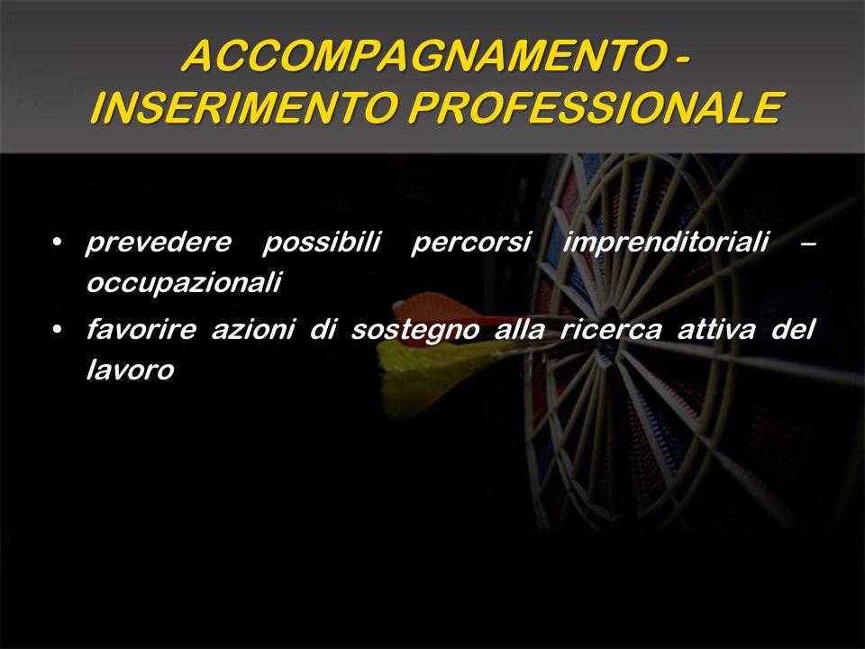 ACCOMPAGNAMENTO - INSERIMENTO PROFESSIONALE