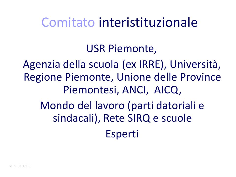 Comitato interistituzionale