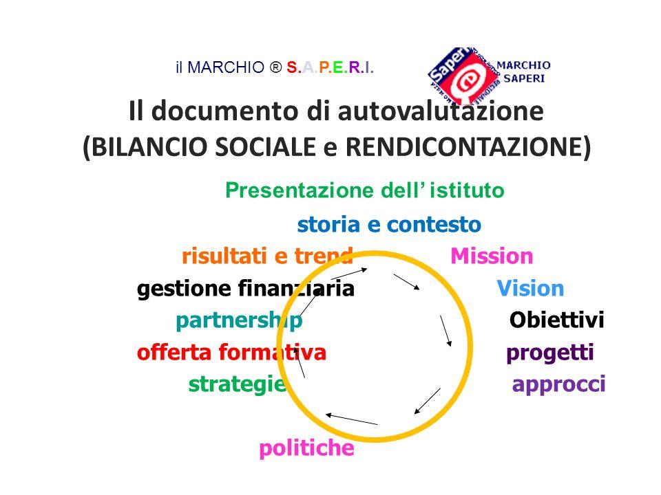 Il documento di autovalutazione (BILANCIO SOCIALE e RENDICONTAZIONE)