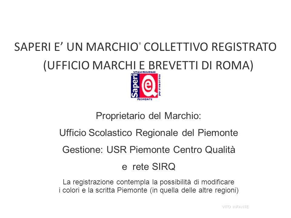 SAPERI E' UN MARCHIO® COLLETTIVO REGISTRATO (UFFICIO MARCHI E BREVETTI DI ROMA)