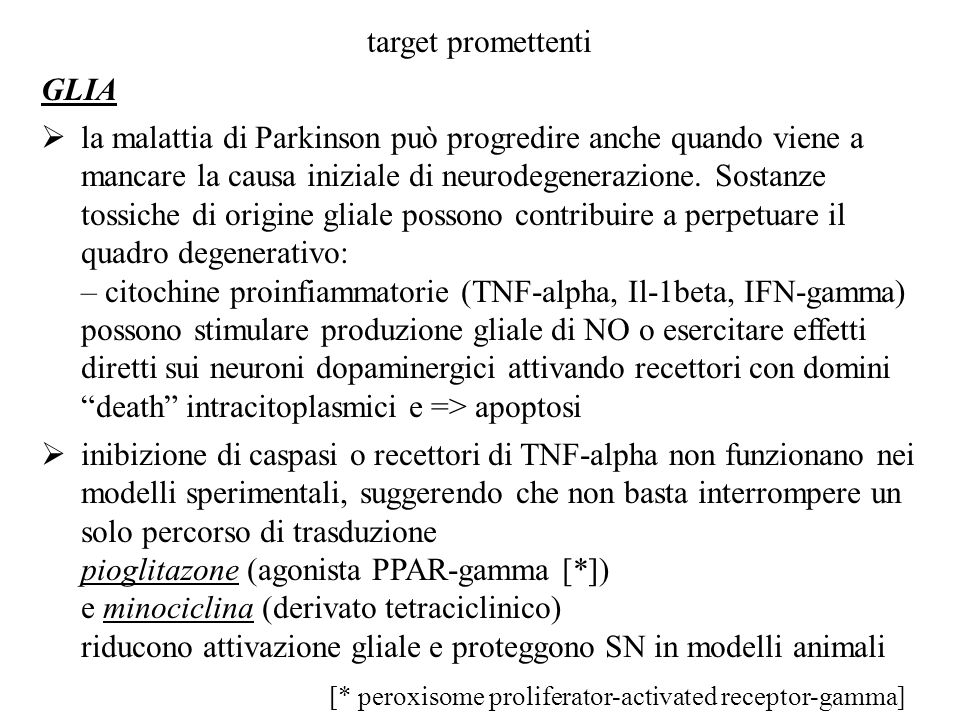 target promettenti GLIA.