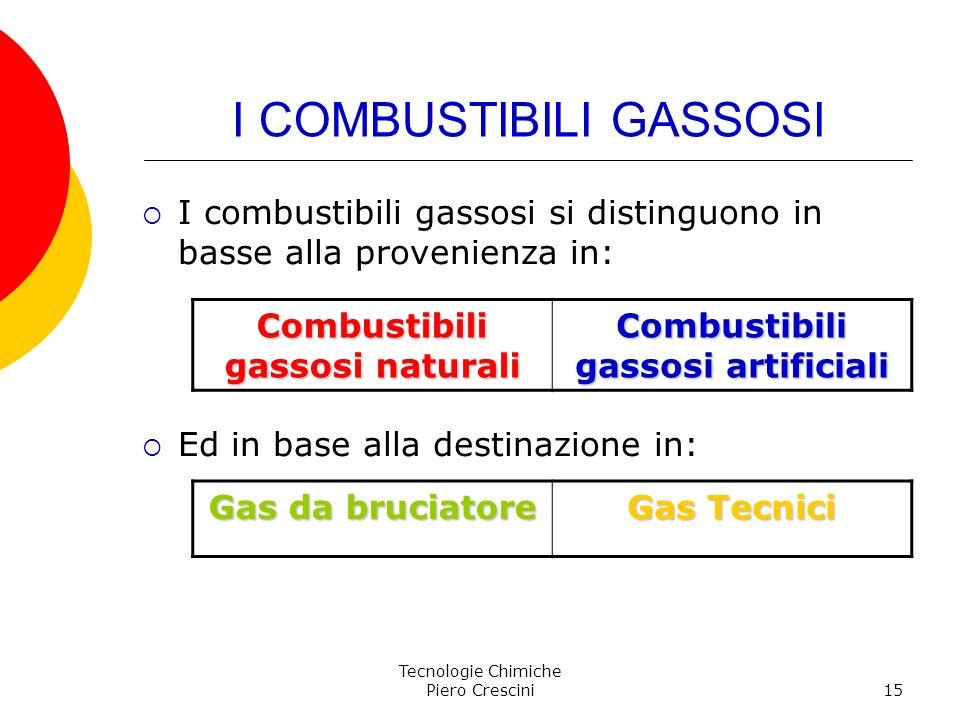 I COMBUSTIBILI GASSOSI