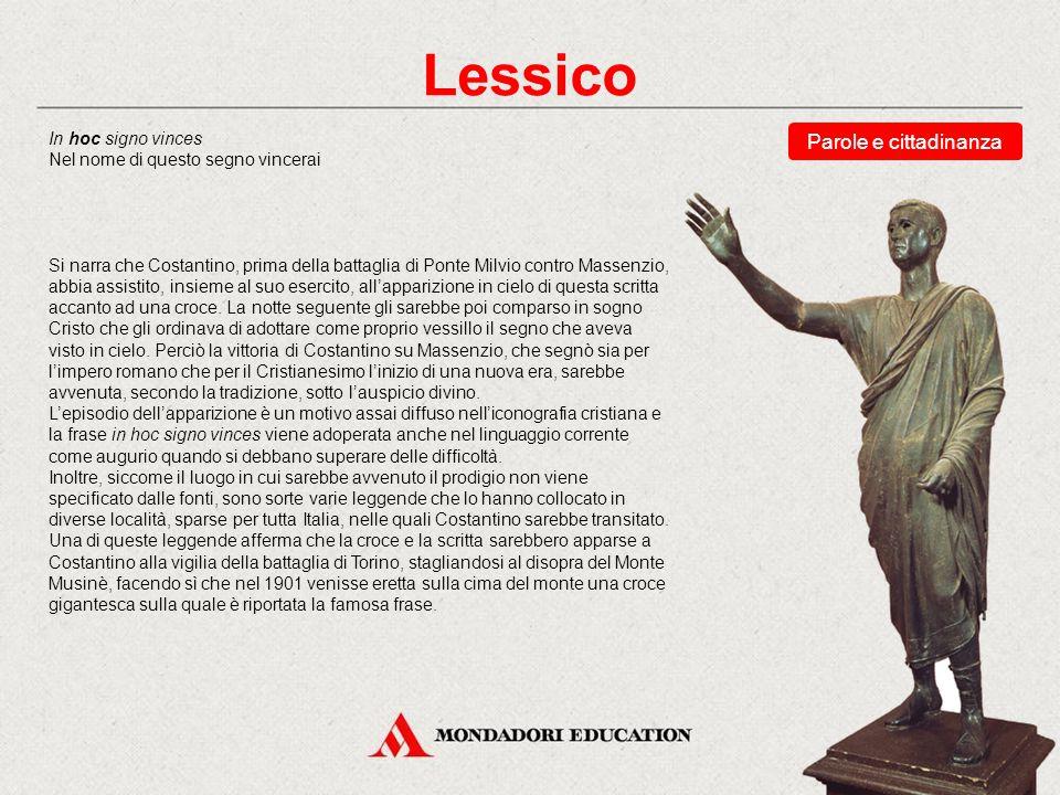 Lessico Parole e cittadinanza * In hoc signo vinces