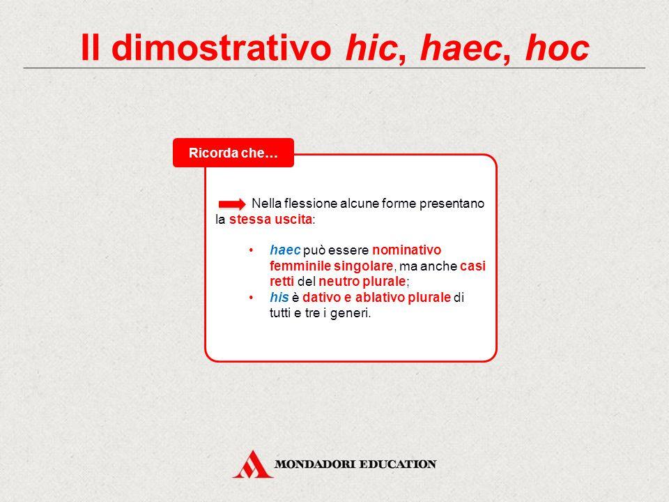 Il dimostrativo hic, haec, hoc