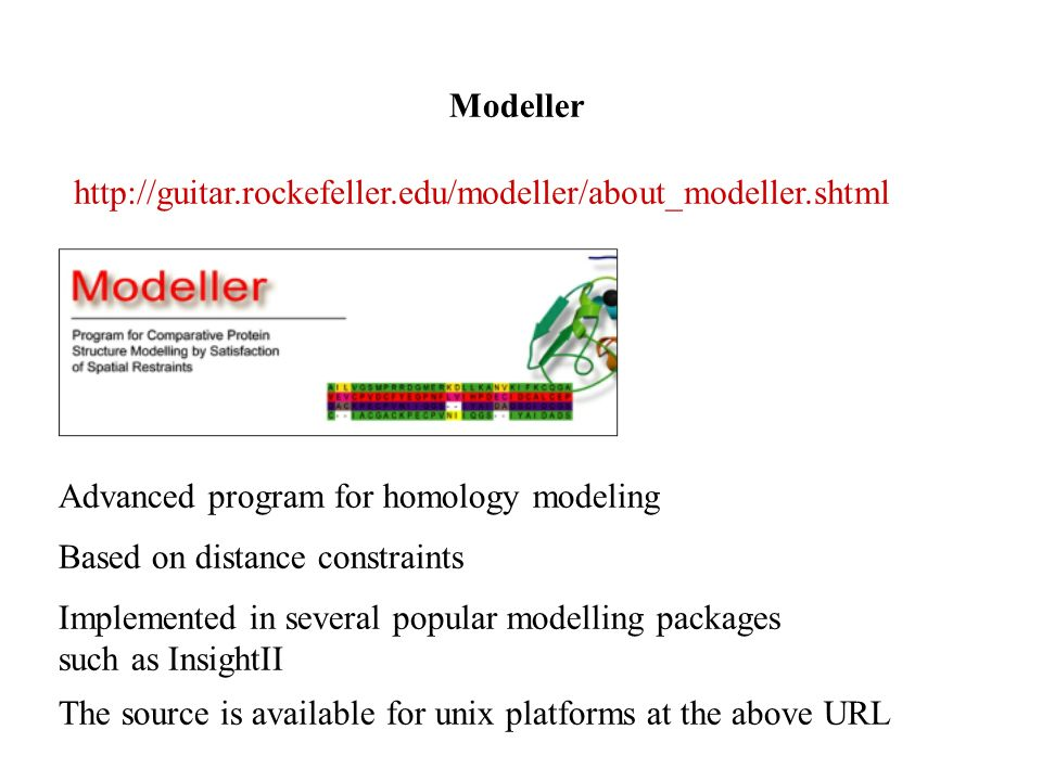 Advanced program for homology modeling