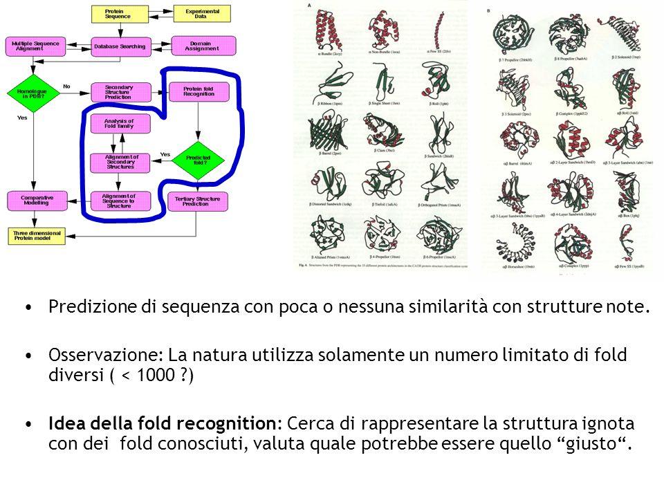 Predizione di sequenza con poca o nessuna similarità con strutture note.
