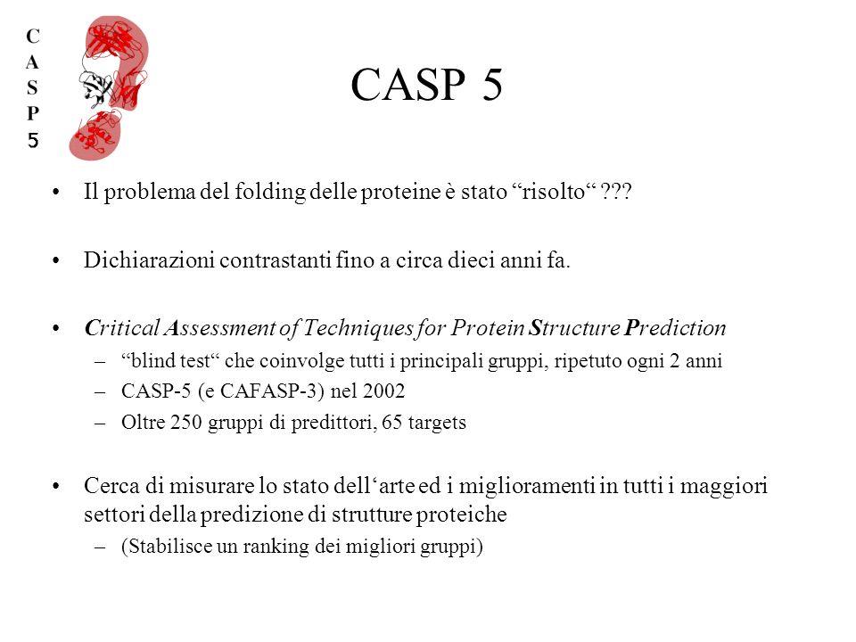 CASP 5 Il problema del folding delle proteine è stato risolto