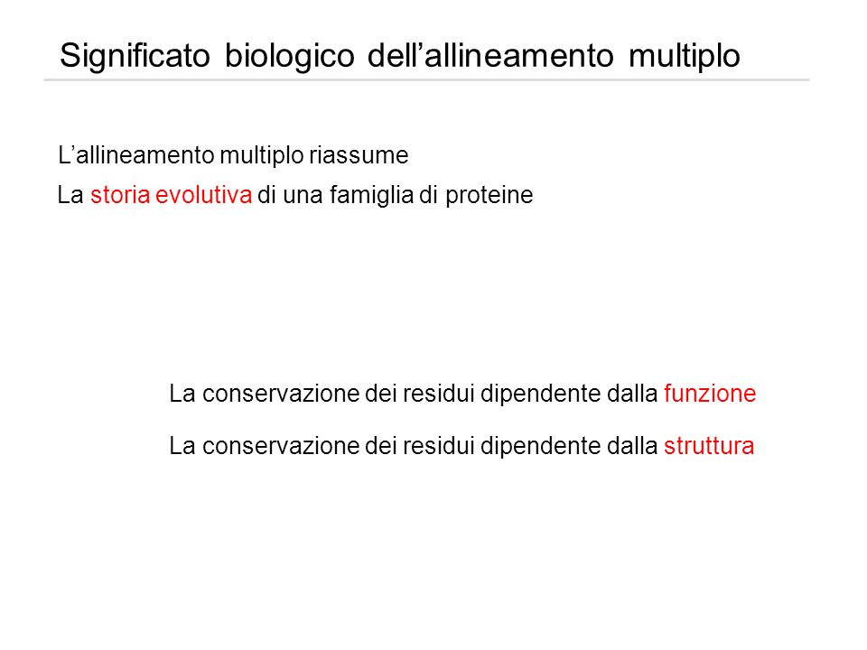 Significato biologico dell'allineamento multiplo