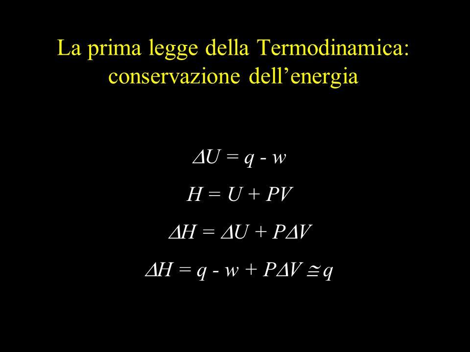 La prima legge della Termodinamica: conservazione dell'energia