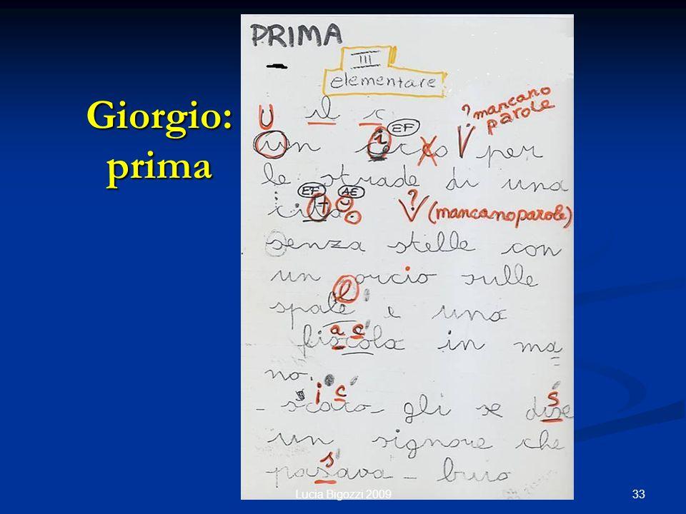 Giorgio: prima Lucia Bigozzi 2009