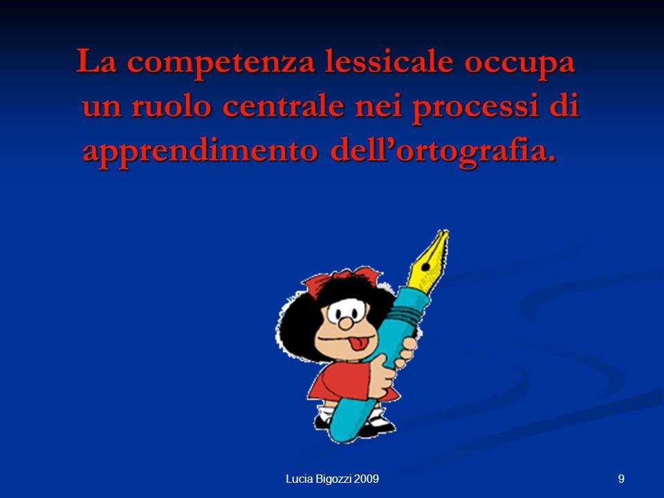 La competenza lessicale occupa un ruolo centrale nei processi di apprendimento dell'ortografia.