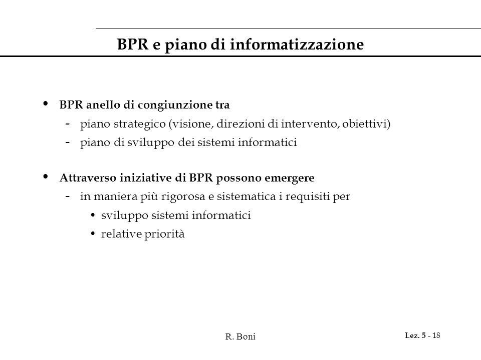 BPR e piano di informatizzazione