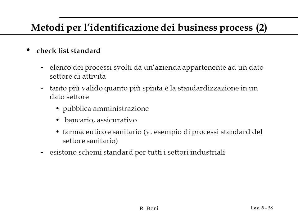 Metodi per l'identificazione dei business process (2)