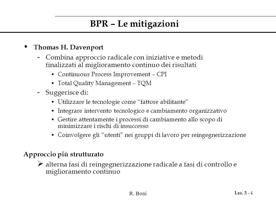 BPR – Le mitigazioni Thomas H. Davenport