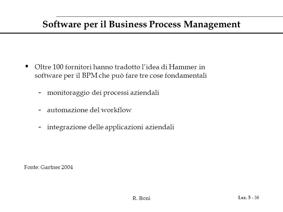 Software per il Business Process Management