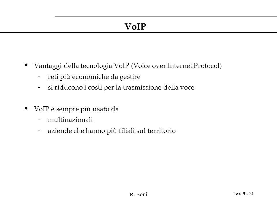 VoIP Vantaggi della tecnologia VoIP (Voice over Internet Protocol)