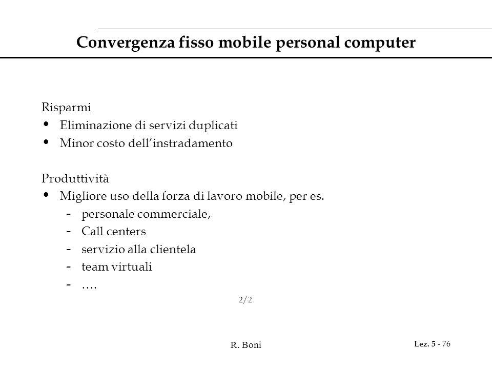 Convergenza fisso mobile personal computer