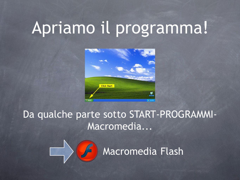 Da qualche parte sotto START-PROGRAMMI-Macromedia...