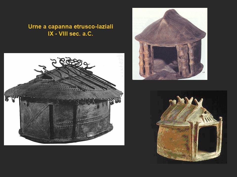 Urne a capanna etrusco-laziali