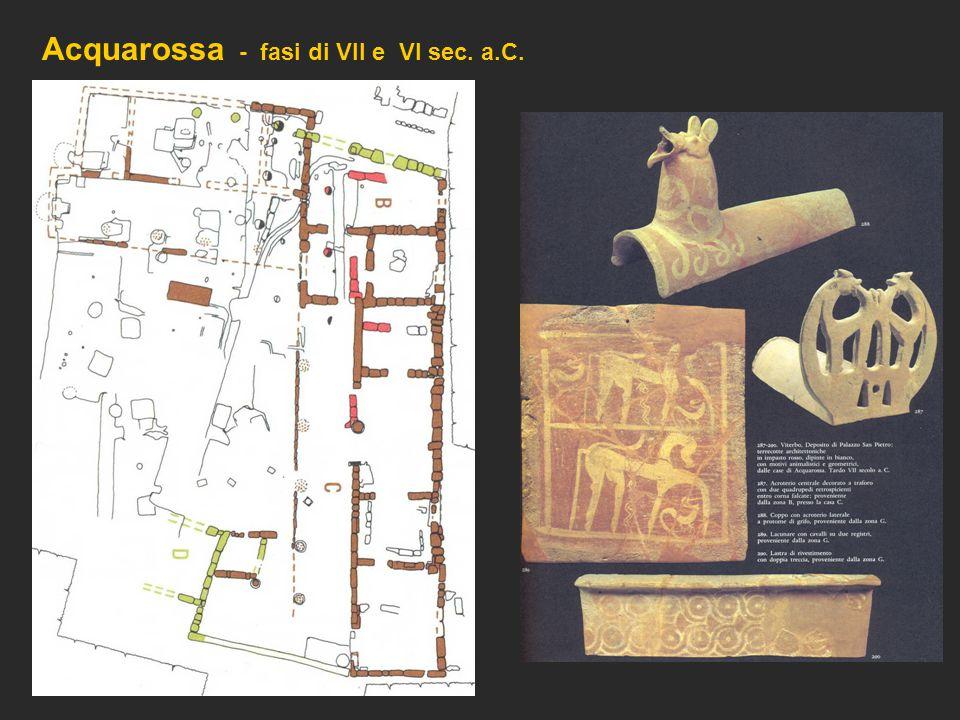 Acquarossa - fasi di VII e VI sec. a.C.