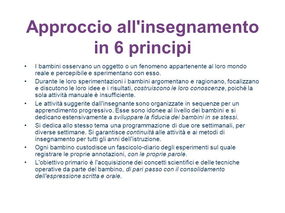 Approccio all insegnamento in 6 principi