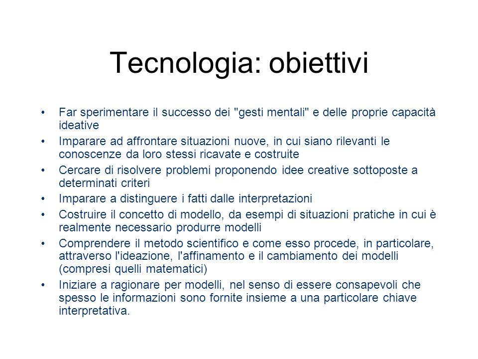 Tecnologia: obiettivi