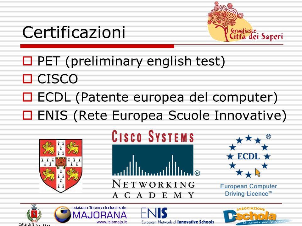 Certificazioni PET (preliminary english test) CISCO