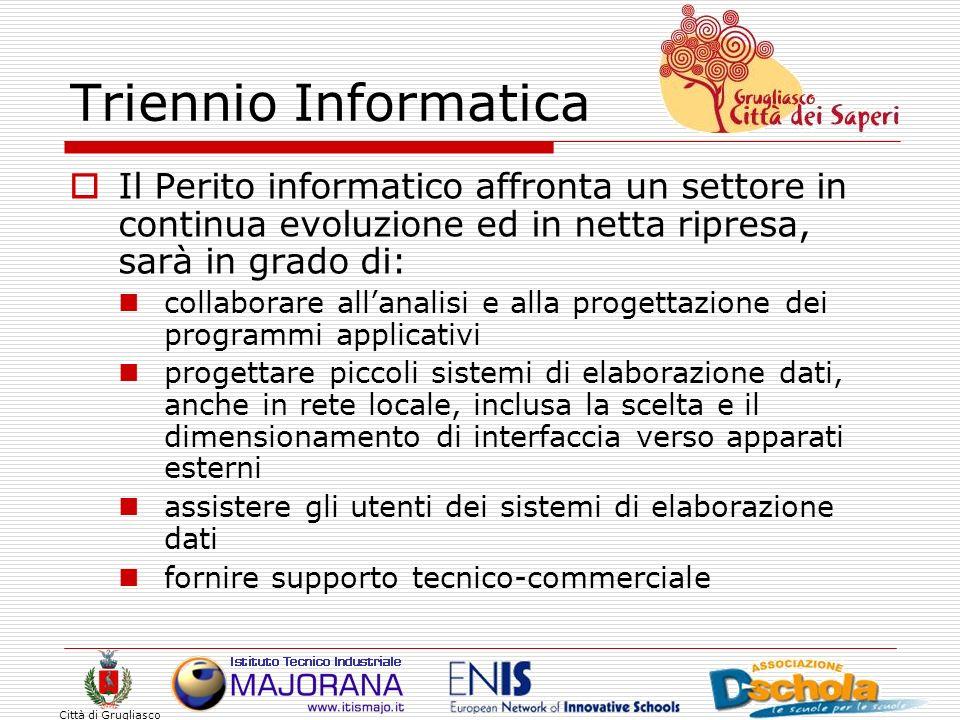 Triennio Informatica Il Perito informatico affronta un settore in continua evoluzione ed in netta ripresa, sarà in grado di: