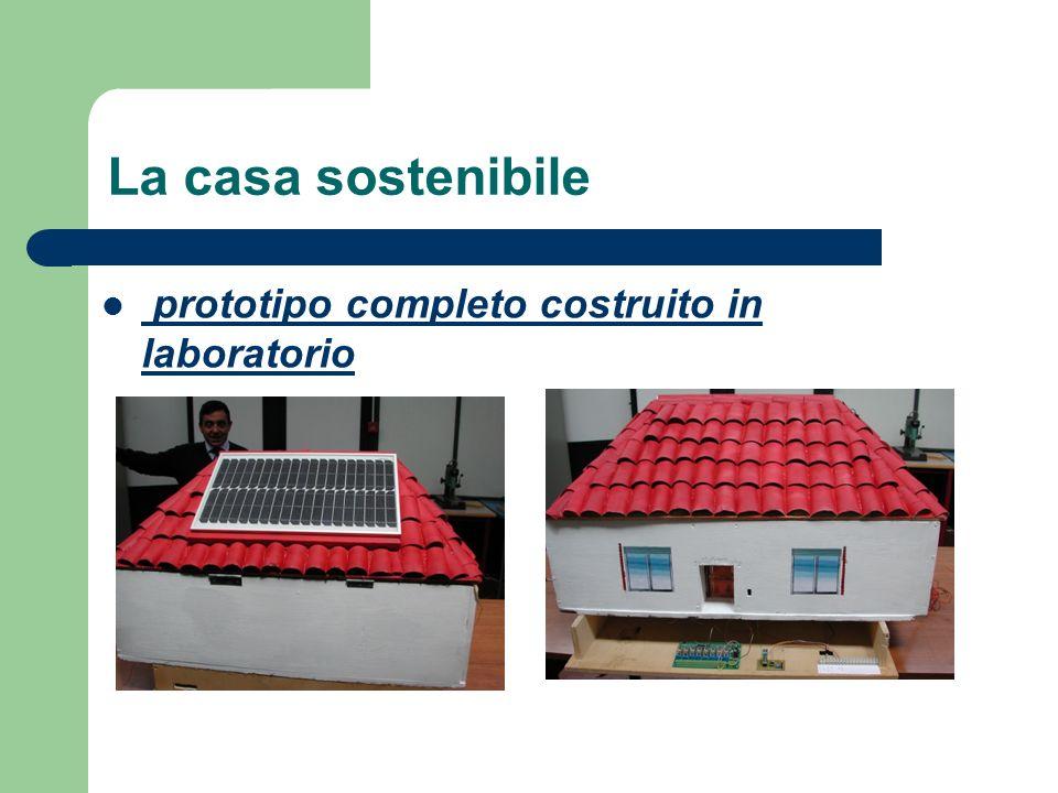 La casa sostenibile prototipo completo costruito in laboratorio