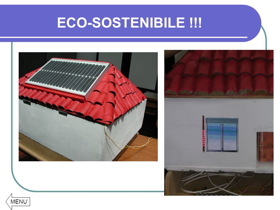 ECO-SOSTENIBILE !!! MENU'
