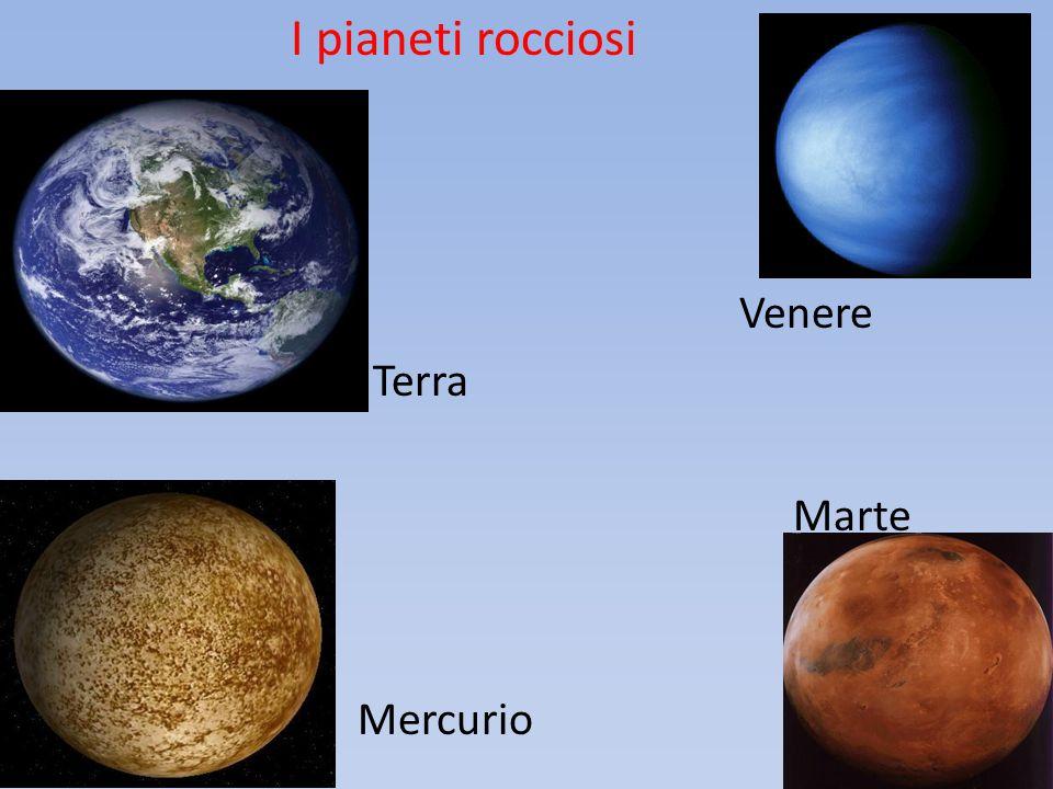 I pianeti rocciosi Venere B Terra Marte Mercurio 15