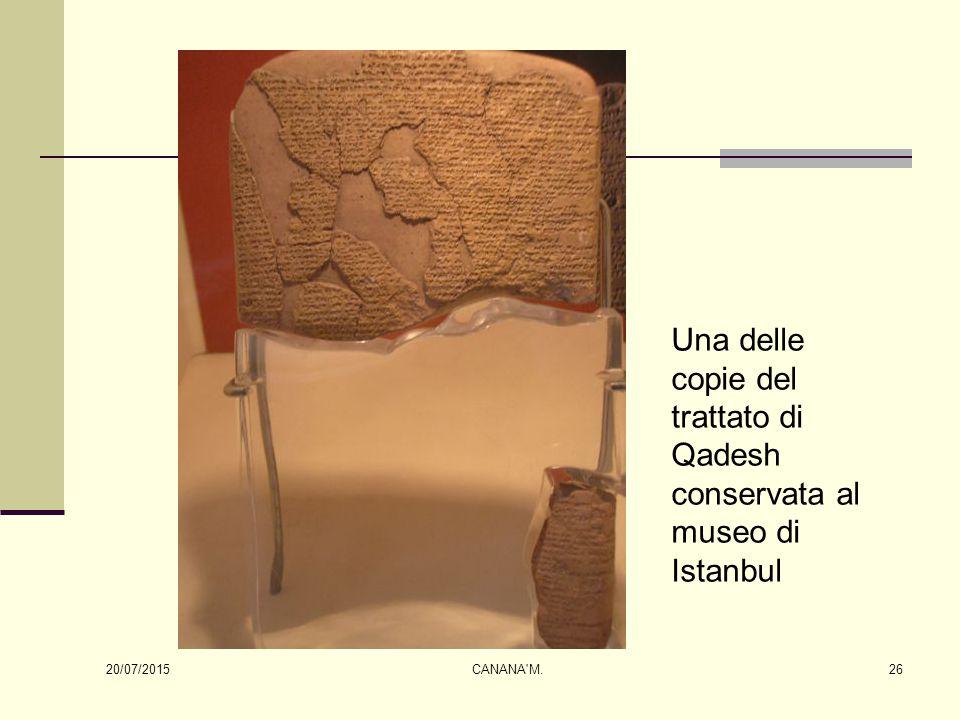 Una delle copie del trattato di Qadesh conservata al museo di Istanbul