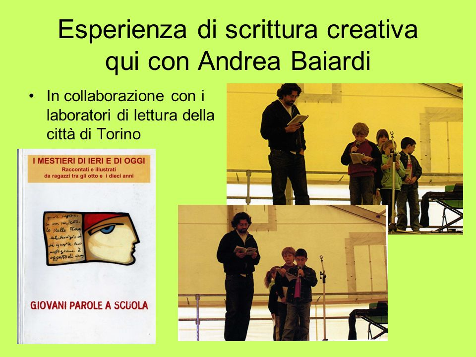 Esperienza di scrittura creativa qui con Andrea Baiardi
