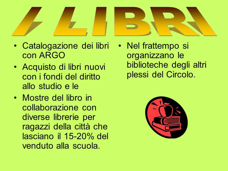 I LIBRI Catalogazione dei libri con ARGO