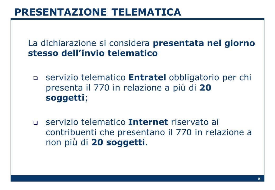 PRESENTAZIONE TELEMATICA