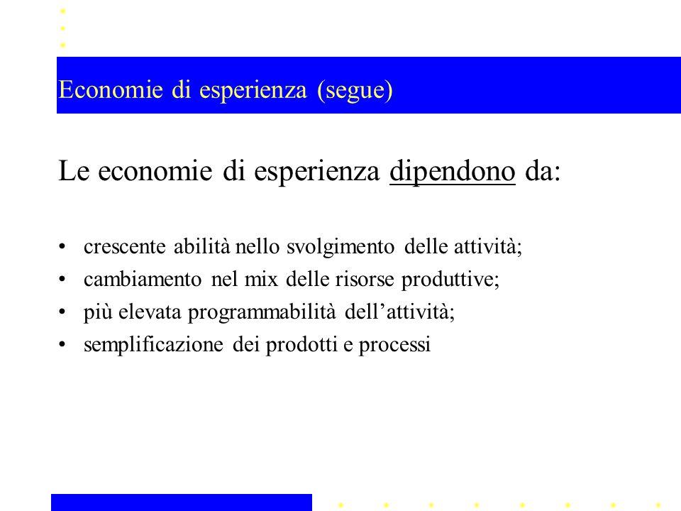 Economie di esperienza (segue)