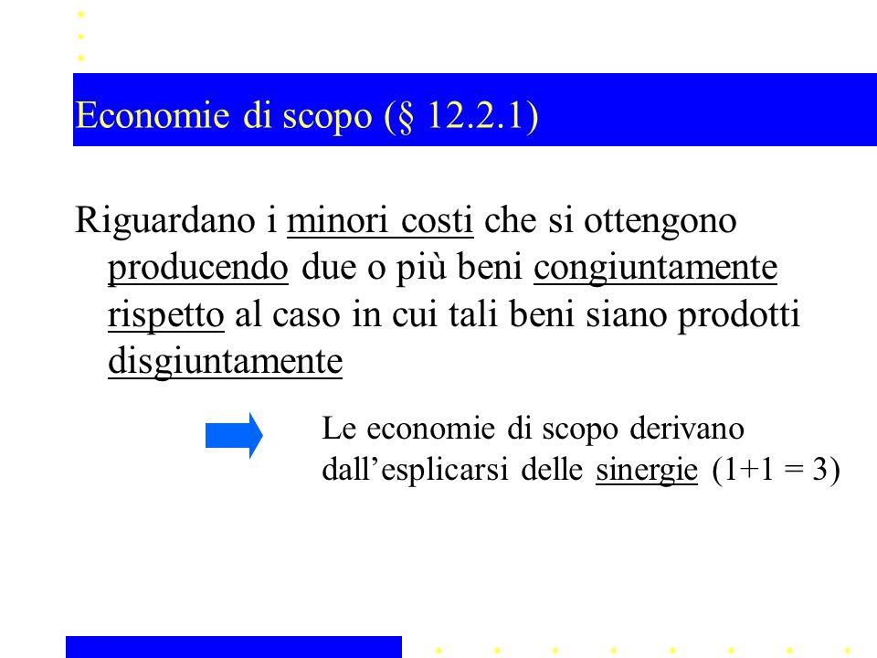 Economie di scopo (§ 12.2.1)