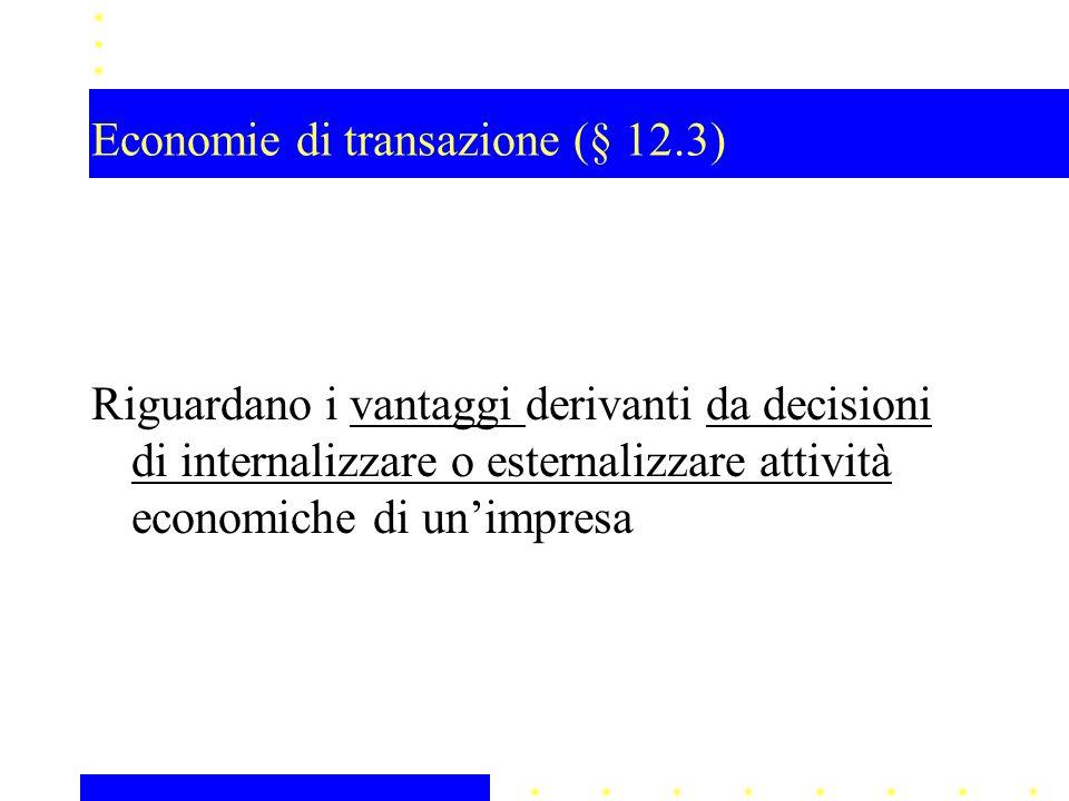 Economie di transazione (§ 12.3)