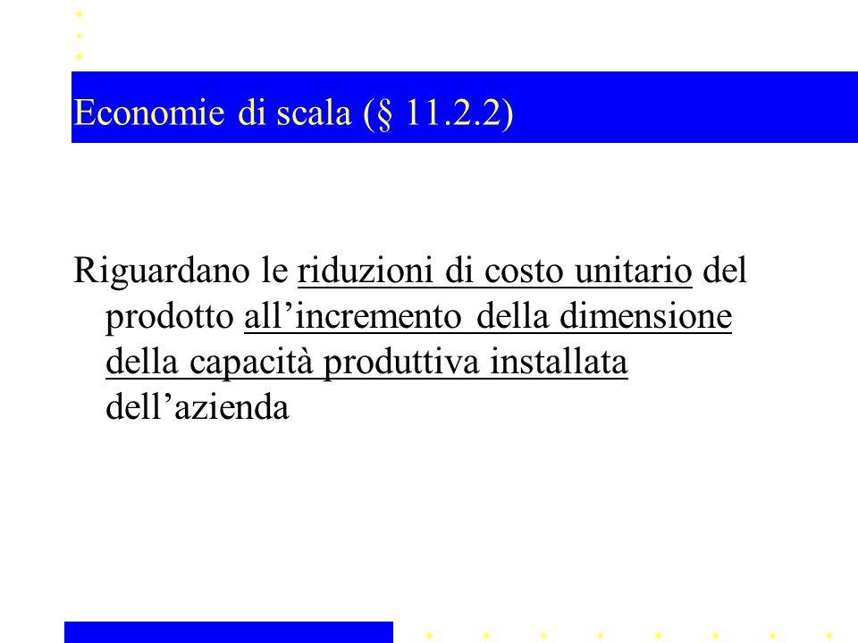 Economie di scala (§ 11.2.2)