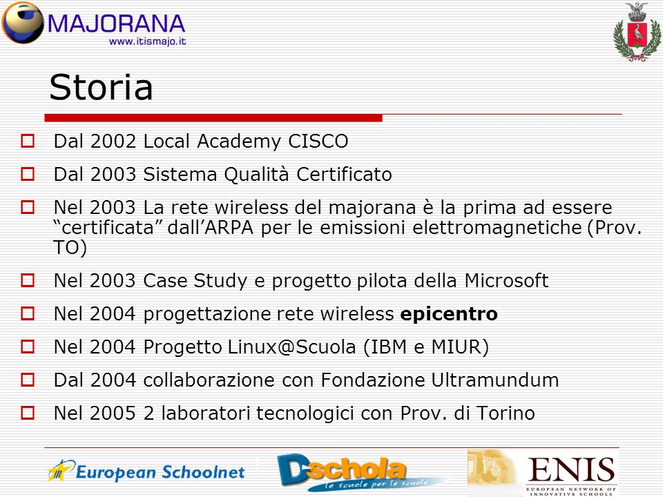 Storia Dal 2002 Local Academy CISCO